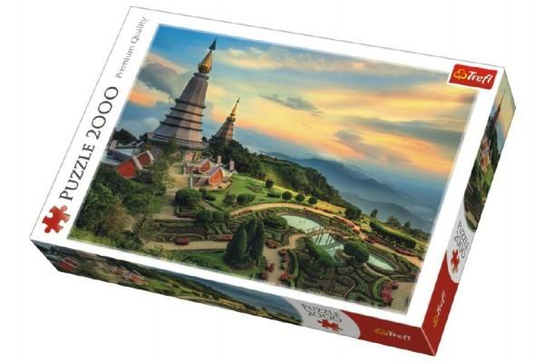 Puzzle Pohádkové Chiang Mai Thajsko 2000 dílků 96x68cm v krabici 40x27x6cm