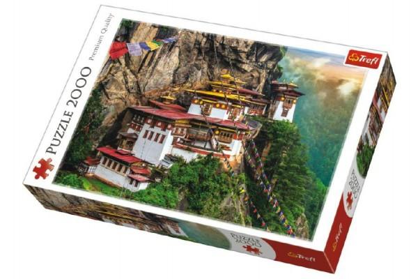 Puzzle Tygří Hnízdo Bhútan 2000 dílků 96x68cm v krabici 40x27x6cm