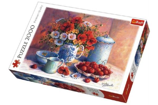 Puzzle Sladké Odpoledne 2000 dílků 96x68cm v krabici 40x27x6cm