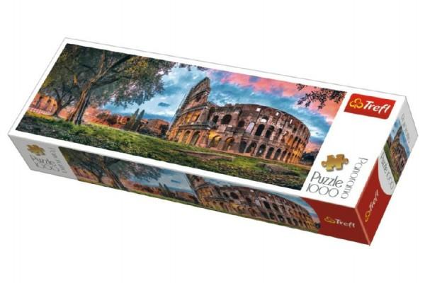 Puzzle Koloseum Řím panorama 1000 dílků 97x34cm v krabici 40x13x7cm