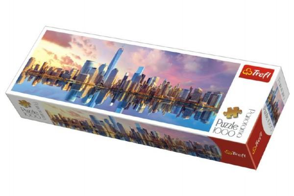 Puzzle Manhattan New York panorama 1000 dílků 97x34cm v krabici 40x13x7cm