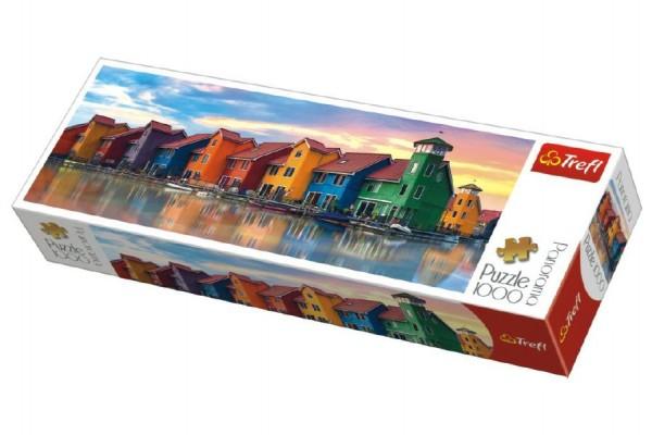 Puzzle Groningen Holandsko panorama 1000 dílků 97x34cm v krabici 40x13x7cm