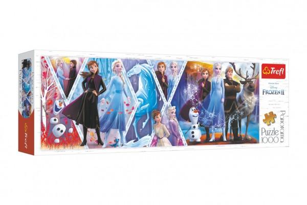 Puzzle panoramatické Ledové království II/Frozen II 1000 dílků 97x34cm v krabici 40x13,5x7cm