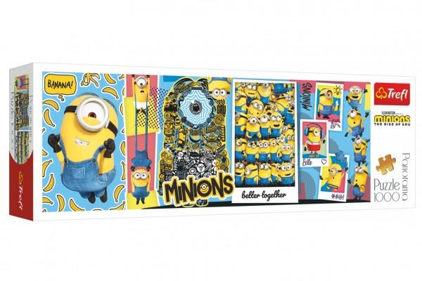 Puzzle panoramatické Mimoni 1000 dílků 97x34cm v krabici 40x13,5x7cm