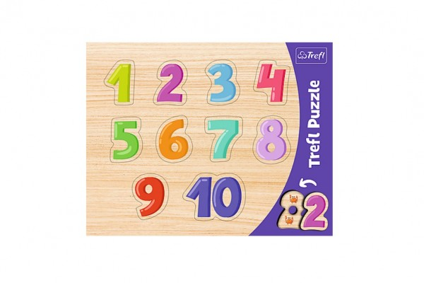Vkládačka/Puzzle obrysové čísla 37x29 v sáčku
