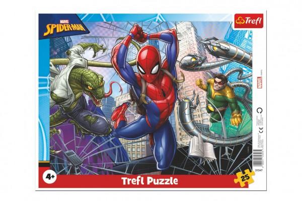 Puzzle deskové Odvážný Spiderman 37x29cm 25 dílků ve folii