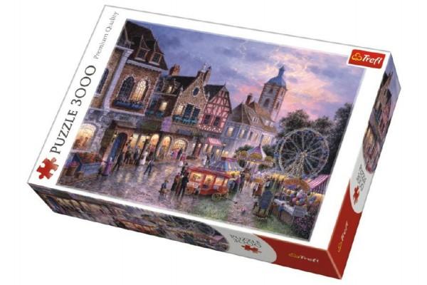 Puzzle Pohádkové Městečko 3000 dílků 116x85cm v krabici 40x27x9cm