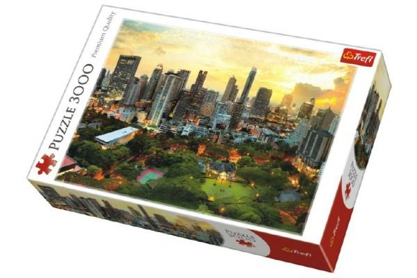 Puzzle Západ Slunce v Bangkoku 3000 dílků 116x85cm v krabici 40x27x9cm