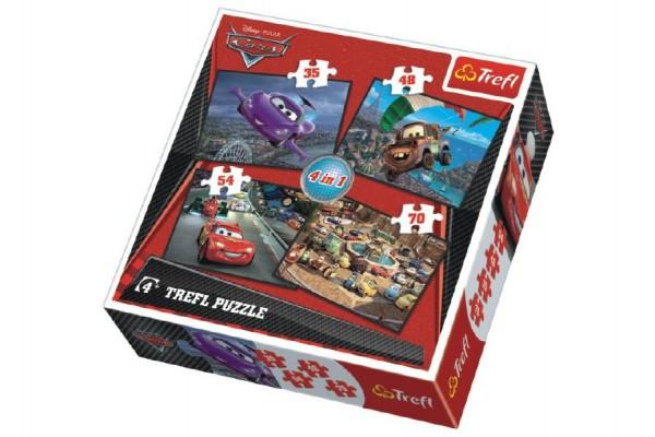 Puzzle 4v1 Cars v krabici 28x28x6cm