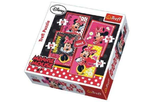 Puzzle 4v1 Minnie Disney v krabici 28x28x6cm