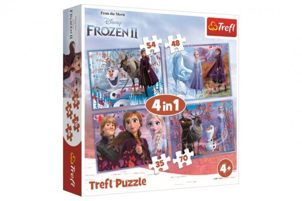 Puzzle 4v1 Ledové království II/Frozen II  v krabici 28x28x6cm