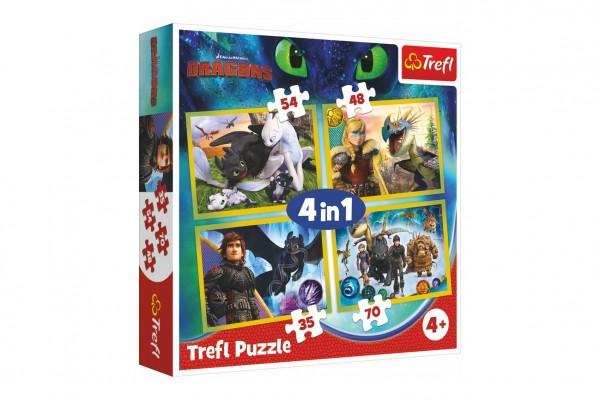 Puzzle 4v1 Jak vycvičit draka 28,5x20,5cm v krabici 28x28x6cm