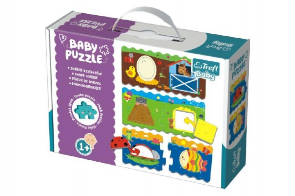 Puzzle baby Tvary 2ks v krabici 27x19x6cm 12m+