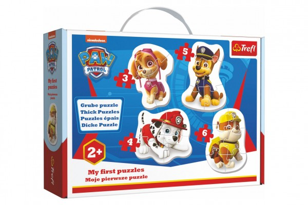 Puzzle baby Paw Patrol/Tlapková patrola 4ks v krabici 27x19x6cm 24m+