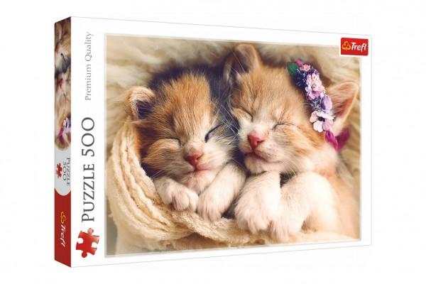 Puzzle Spící koťata 500 dílků 48x34cm v krabici 40x26,5x4,5cm