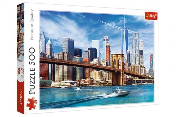 Puzzle Výhled na New York 500 dílků 58x34cm v krabici 40x26,5x4,5cm