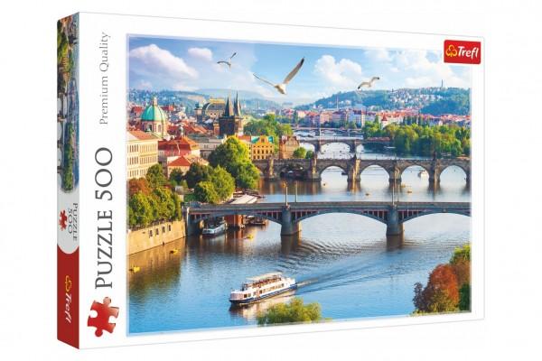 Puzzle Praha, Česká Republika 500 dílků 48x34cm v krabici 40x27x4,5cm