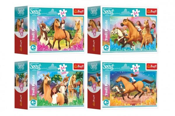 Minipuzzle 54 dílků Čas na nové dobrodružství/Dreamworks 4 druhy v krabičce 9x6,5x4cm 40ks v boxu