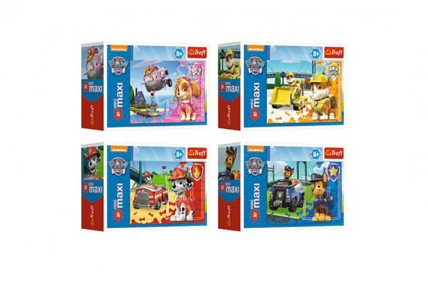 Puzzle miniMAXI 20 dílků Paw Patrol/Tlapková patrola 4 druhy v krabičce 11x8x4cm 24ks v boxu