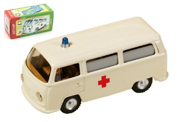Auto VW Ambulance kov 12cm 1:43 v krabičce Kovap