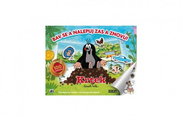 Samolepková knížka Krtek - Bav se a nalepuj 36,5x28cm