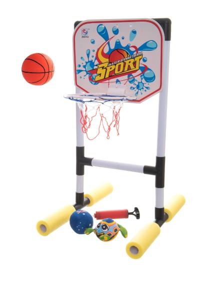 Basketbal do vody s doplňky 62cm v krabici 43x26x7cm